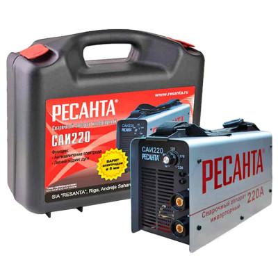 Сварочный инверторный аппарат Ресанта САИ-220 (кейс)