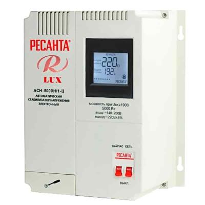 Стабилизатор напряжения Ресанта АСН-5000Н/1-Ц